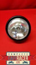 (HL8b) CAFE RACER MOTORCYCLE SIDE MOUNT BLACK HEADLIGHT LAMP 5″1/2″ LENSE