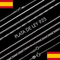 """Cadena collar Mujer en Plata de ley 925 joyería cadenas de 16""""-18"""" en 40-45 cm"""
