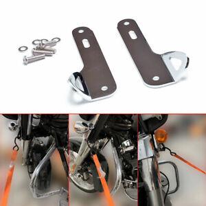Chrome Front End Fork Tie Down Bracket Kit For Harley Electra Street Glide 14-20