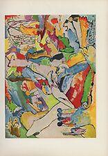 """1958 Vintage Kandinsky """" Étude For Composition Ll """" Couleur Estampe Lithographie"""