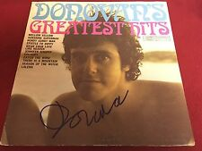 DONOVAN LEITCH GREATEST HITS SIGNED VINYL LP ALBUM PROOF