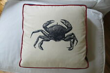"L. L. Bean Square, 17.5"" Decorative ""Crab"" Pillow with Down/Feather Insert."