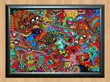 Psychedelic Trippy Funky Mushrooms Audio Video Visulization A4 Photo Print 4