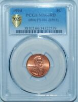 1994 PCGS MS66RD FS-801 Red Double Doubled Die Reverse Lincoln Cent