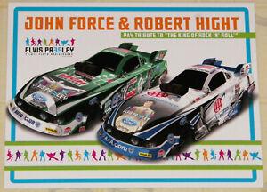 "RARE 2012 ""JOHN FORCE/ROBERT HIGHT"" ONE RACE ONLY ELVIS F/C DRAG RACING HANDOUT!"