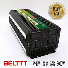 DC12V to AC220V 3000 Watt Power Inverter DC-AC 6000 Watt Peak Power Car Truck