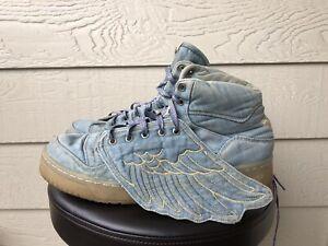 Adidas Originals Sneakers Jeremy Scott Wings Denim JS Blue V24621 Sz 11.5