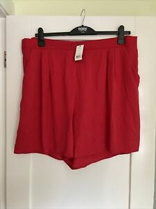 Ladies George New With Tags Red Size 22 Shorts ** FREE P&P**