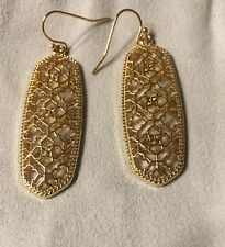 New Tara Scott  Gold Filigree Kendra Drop Dangle Earrings