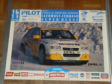 Affiche d'époque Clermont Super Besse Trophé Andros OPEL   Course auto