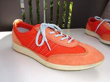 ECCO Damen Sneaker Schuhe Leder Nubuk Textil Orange Gr.40 TOP