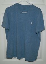 Men Polo Ralph Lauren Sleepwear Shirt Solid Blue Short Sleeve Size L