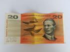 Commonwealth of Australia- 1968 Australian $20 Paper Banknotes Phillips/Randall