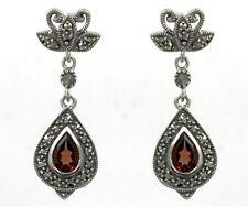 ESSE Ohrring 925/- Silber Markasit Granat