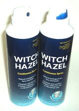 2 WITCH HAZEL Continuous Spray Natural Astringent For Face & Body 6 oz each