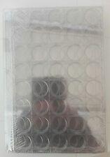 LOT DE 10 BOX CLASSEUR  POUR  CAPSULES / PIECES/ JETONS 40 CASES TRANSPARENT