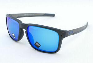 Oakley HOLBROOK MIX POLARIZED Sunglasses OO9384-1057 Steel W/ PRIZM Sapphire