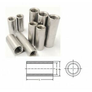 Tiebar Connector A2 (T304) Stainless Steel Coupling Nut Long Nut Threaded Sleeve