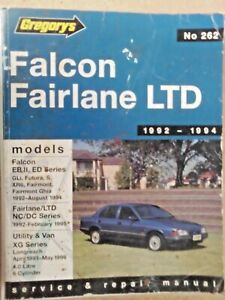 GREGORYS FORD FALCON, FAIRLANE, LTD  92-94 WORKSHOP MANUAL