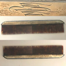 RARE ANTIQUE VICTORIAN R.W. WALLACE STERLING SILVER LARGE HAIR COMB