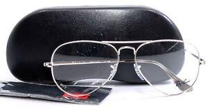 RAY-BAN RB6489 2501 Silver Mens Aviator Full Rim Eyeglasses Frames 58-14-140