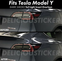 SMOKE Tail light Rear Overlay Vinyl Tint Decal Precut Fits Tesla Model Y Smoked