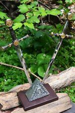 Twin Masonic Sword Letter Opener Set - Freemasonry Knights Templar - Dual Dagger