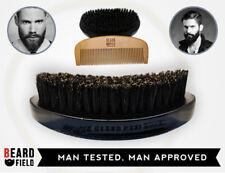 Beard Brush and Comb KIT- 100% Boar Bristles & Natural | BeardField 2018