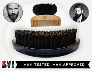 Beard Brush and Comb KIT- 100% Boar Bristles & Natural | BeardField 2020