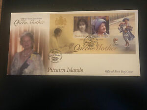 Pitcairn Islands 2002, FDC, Queen Mother Commemoration M/S, Excellent Condition