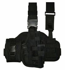 BLACK ADJUSTABLE Tactical THIGH HOLSTER RIGHT Hand Paintball Airsoft SWAT
