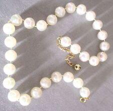beau collier perles blanches nacrées effet irisé bijou fantaisie réglable 3209