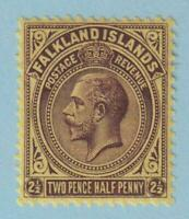 FALKLAND ISLANDS 45 MINT HINGED OG * NO FAULTS EXTRA FINE !