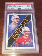 2000 Fleer Tradition Tom Brady Rookie #352 PSA 9 MINT Patriots Stachelski