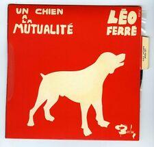 45 RPM EP LEO FERRE UN CHIEN A LA MUTUALITE