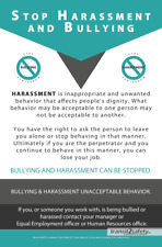 Workplace Bullying & Harassment Safety Poster