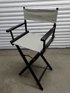 "Casual Home Director's Chair ,Black Frame/Grey Canvas,30"" - Bar Height"