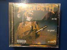 MEGADETH.      SO. FAR. SO. GOOD.  SO. WHAT.         CAPITOL. RECORDS