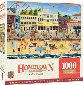 Masterpieces 1000 Piece Jigsaw Puzzle - Hometown Gallery On The Boardwalk Dinted