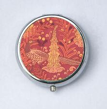 Art Nouveau Brids and Dandelions Pill case pillbox pill holder design Pattern