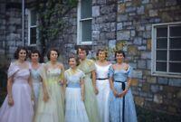 Pretty Women Wilson College 1950s 35mm Slide Vtg Kodachrome Dresses Fashion Girl