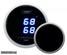 Prosport 52mm Smoked Digital Intercooler In and Out Temperature Gauge Deg C