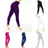 Women  Pants Casual Yoga Solid Color Leggings Cotton White Black Skinny Stretchy