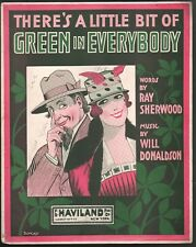 There's A Little Bit of Green in Everybody 1907 Large Format Sheet Music