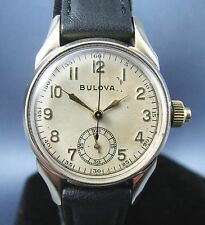 Vintage Rare Bulova Chronograph Doctors Mens Watch 10k Gold RGP 17J 10AH 1942