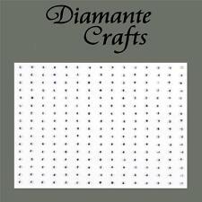 240 x 1mm Clear Diamante Self Adhesive Rhinestone Body Nail Vajazzle Gems