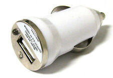 New Mini White USB port Car charger Adapter 4 MP3 IPOD IPhone Cellphone 1000mah