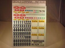 DECALS 1/18 PLAQUES RALLYE DE MONTE CARLO 1999 et 2000 - CARPENA  1834