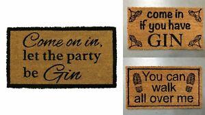 NEW NOVELTY OUTDOOR COIR DOORMAT LATEX BACK GIN ALCOHOL MADHOUSE DOOR FLOOR MAT