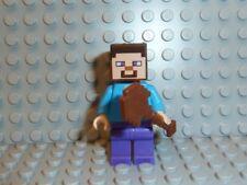 LEGO® Minecraft 1x Figur Steve mit Holz Schaufel 21116 21115 21118 21122 F592